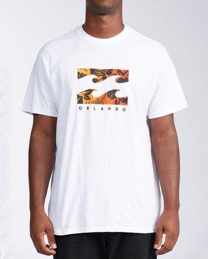 0 Floral Wave Short Sleeve T-Shirt White M404JTOR Billabong