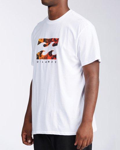1 Floral Wave Short Sleeve T-Shirt White M404JTOR Billabong