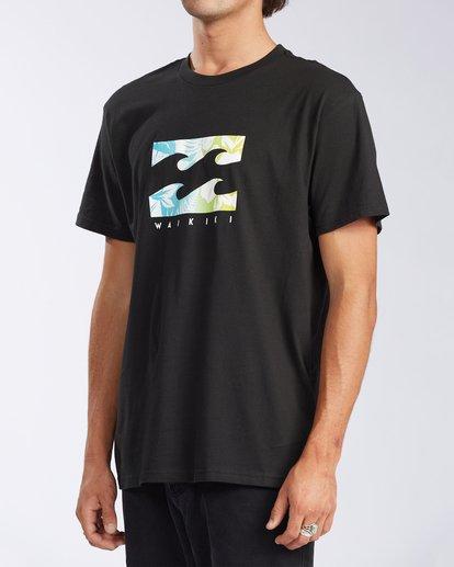 1 Waikiki Floral Short Sleeve T-Shirt Black M404JWWR Billabong