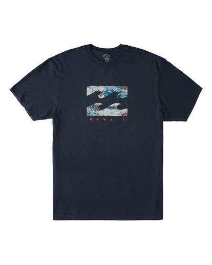 3 Island Wave Hawaii Short Sleeve T-Shirt Blue M404KIHI Billabong