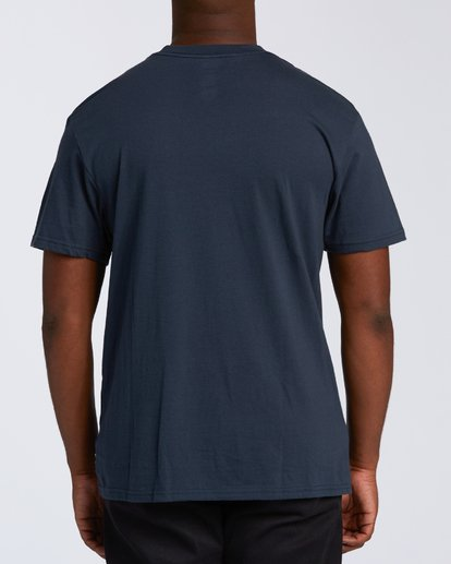 2 Island Wave Hawaii Short Sleeve T-Shirt Blue M404KIHI Billabong