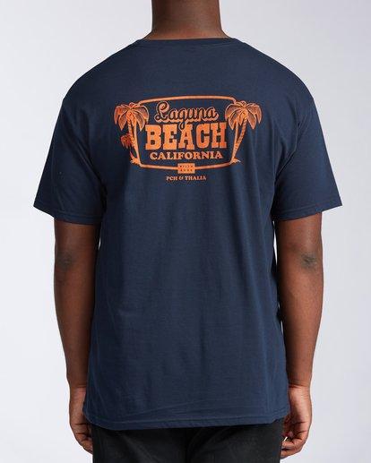 2 Laguna Short Sleeve T-Shirt Blue M404LLLB Billabong