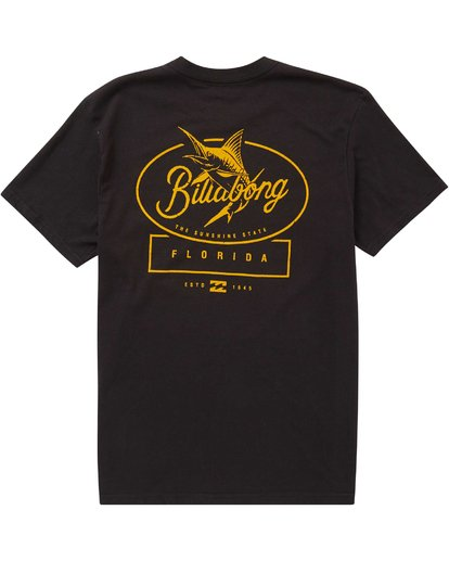 1 Black Fin Tee  M404PBBF Billabong