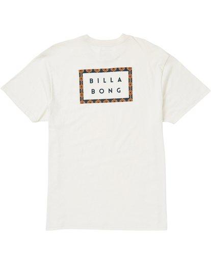 1 Die Cut Border T-Shirt White M404SBDB Billabong