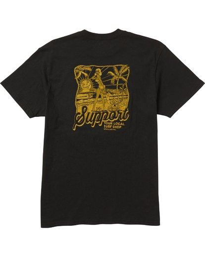 1 Support Tee Shirt Black M404SBSU Billabong