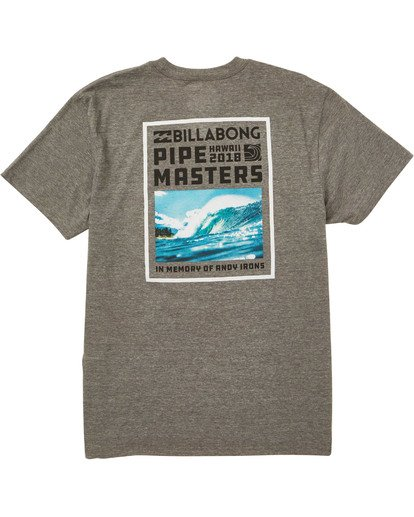 1 Pipe Poster T-Shirt Grey M404TBPI Billabong