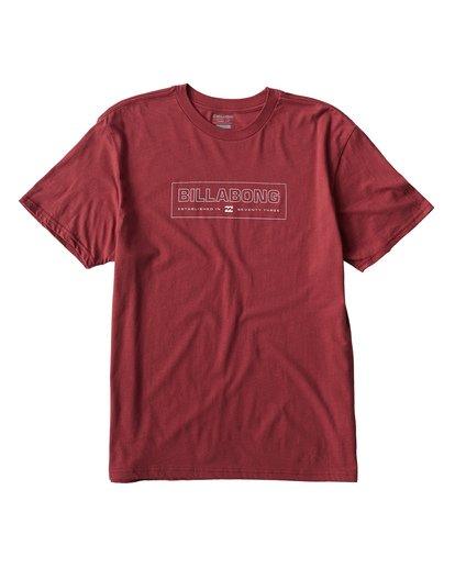 0 Key T-Shirt Red M404UKEE Billabong
