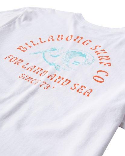 3 Peliwave T-Shirt White M404UPEE Billabong