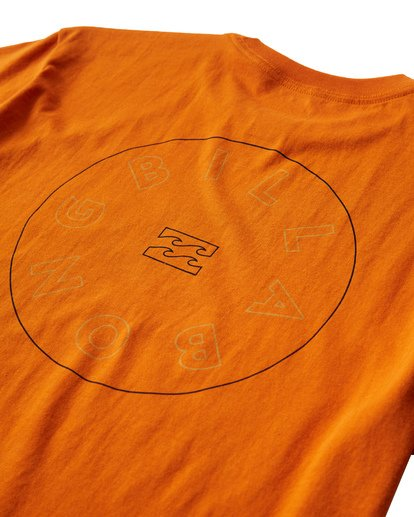 3 Roto T-Shirt Orange M404UROE Billabong