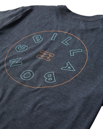 3 Roto T-Shirt Blue M404UROE Billabong