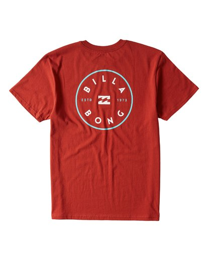 1 Rotor Short Sleeve T-Shirt Red M404URTR Billabong