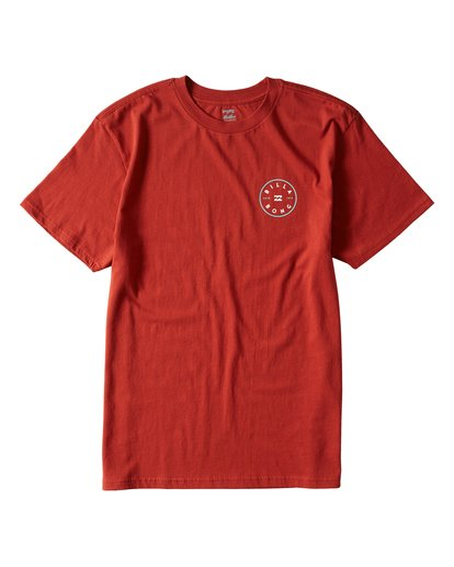 0 Rotor Short Sleeve T-Shirt Red M404URTR Billabong