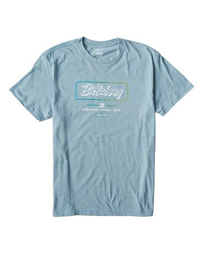0 Script T-Shirt Blue M404USCE Billabong