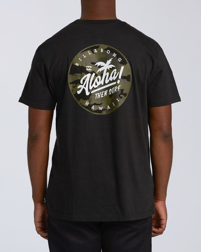 2 Aloha Badge Short Sleeve T-Shirt Black M404VBAA Billabong