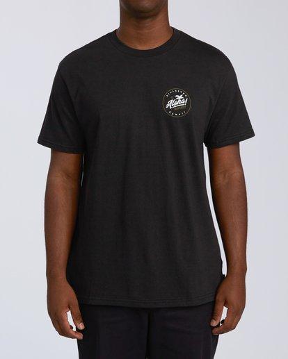 0 Aloha Badge Short Sleeve T-Shirt Black M404VBAA Billabong