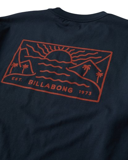 3 Beach Path T-Shirt Blue M404VBBP Billabong