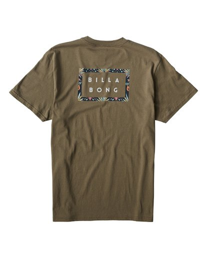 1 Diecut T-Shirt Green M404VBDC Billabong