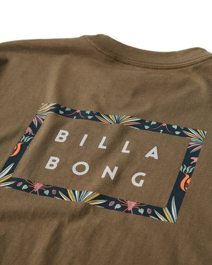 3 Diecut T-Shirt Green M404VBDC Billabong