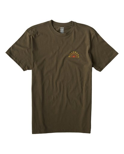 0 Del Sol T-Shirt Green M404VBDS Billabong