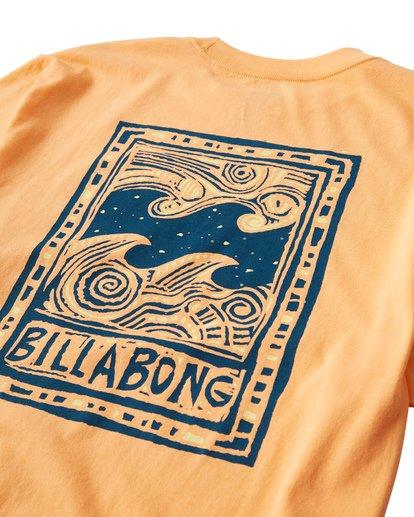 3 Icon T-Shirt Orange M404VBIC Billabong