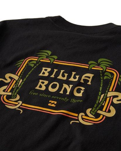 3 Lagoon T-Shirt Black M404VBLA Billabong