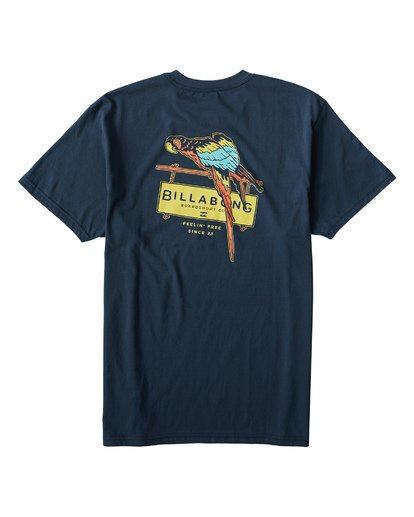 1 Macaw T-Shirt Blue M404VBMW Billabong