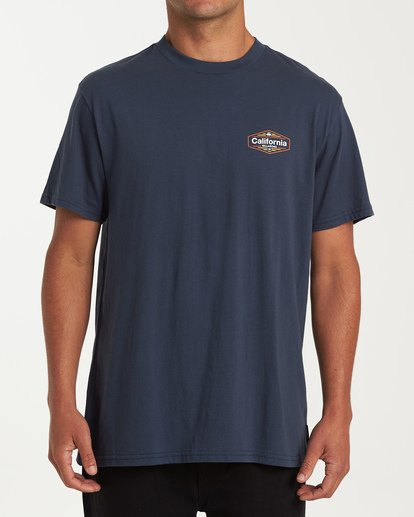 0 National T-Shirt Blue M404VBNA Billabong