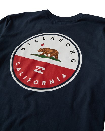 3 Native Cali T-Shirt Blue M404VBNC Billabong