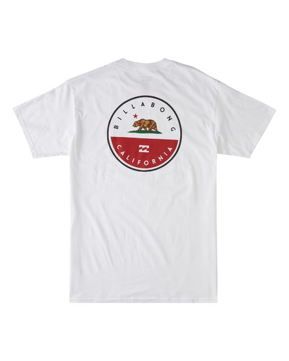 4 Native California Short Sleeve T-Shirt White M404VBNC Billabong