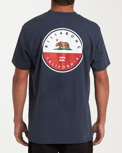2 Native Cali T-Shirt Blue M404VBNC Billabong