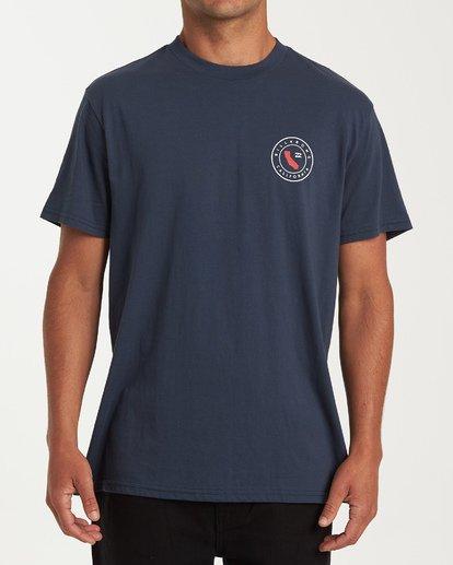 3 Native Cali T-Shirt Blue M404VBNC Billabong