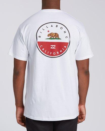 2 Native California Short Sleeve T-Shirt White M404VBNC Billabong