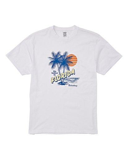 3 Tourist Trap Fl T-Shirt White M404VBTF Billabong