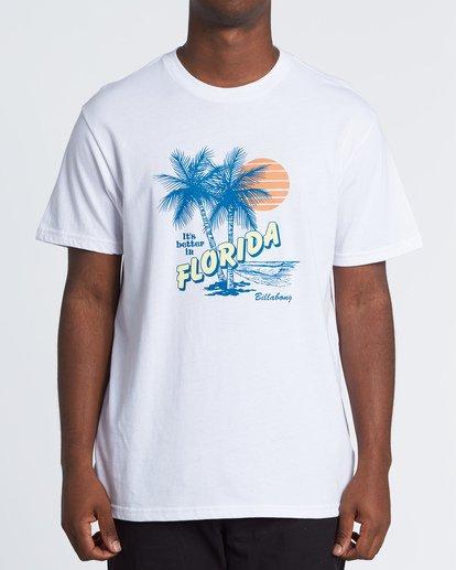 0 Tourist Trap Fl T-Shirt White M404VBTF Billabong