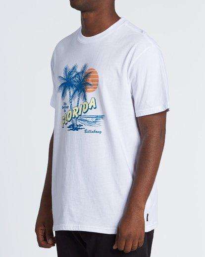 1 Tourist Trap Fl T-Shirt White M404VBTF Billabong