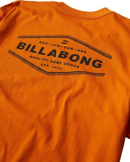 3 Vista T-Shirt Orange M404VBVI Billabong