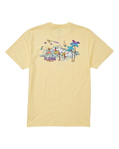 4 Vacay T-Shirt Yellow M404VBVY Billabong