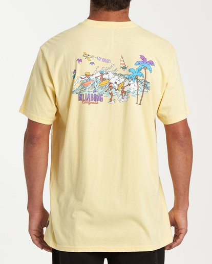 2 Vacay T-Shirt Yellow M404VBVY Billabong