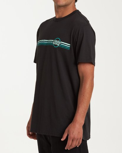 1 Cruise Stripe Short Sleeve T-Shirt Black M404WBCS Billabong