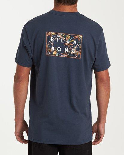 2 Diecut Short Sleeve T-Shirt Blue M404WBDC Billabong