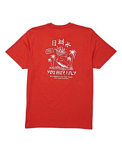 4 Delivery Short Sleeve T-Shirt Red M404WBDE Billabong