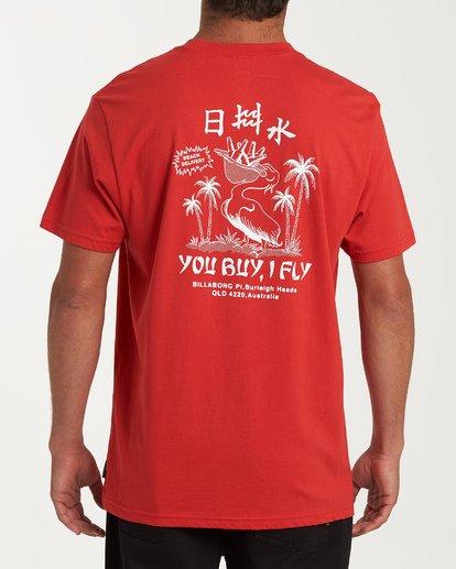 2 Delivery Short Sleeve T-Shirt Red M404WBDE Billabong