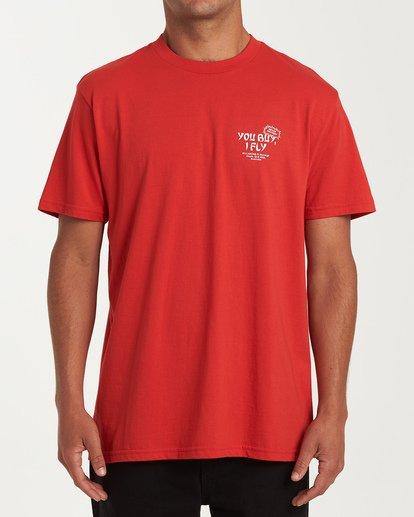 0 Delivery Short Sleeve T-Shirt Red M404WBDE Billabong