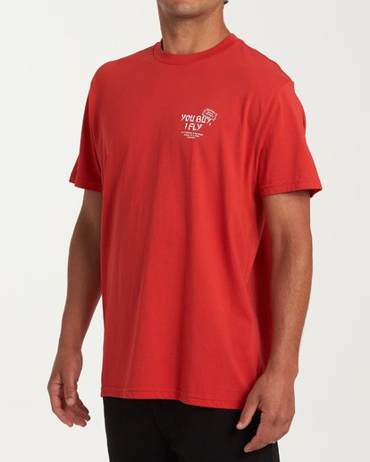 1 Delivery Short Sleeve T-Shirt Red M404WBDE Billabong