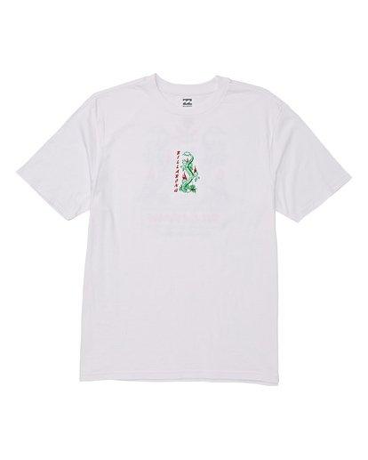 3 Double Dragon Short Sleeve T-Shirt White M404WBDO Billabong