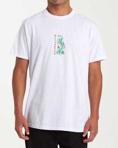 0 Double Dragon Short Sleeve T-Shirt White M404WBDO Billabong