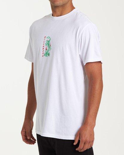 1 Double Dragon Short Sleeve T-Shirt White M404WBDO Billabong