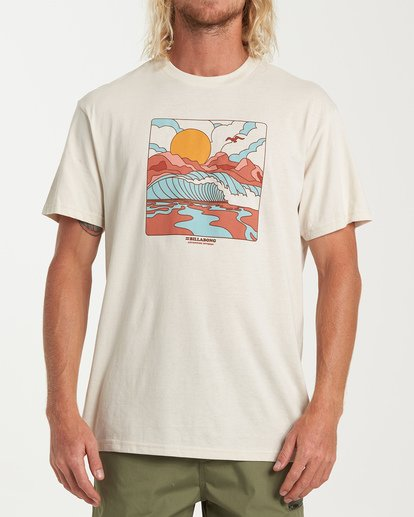 0 Drainer Short Sleeve T-Shirt White M404WBDR Billabong