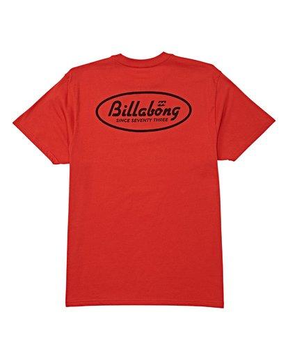 4 Falcon Short Sleeve T-Shirt Red M404WBFA Billabong