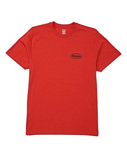 3 Falcon Short Sleeve T-Shirt Red M404WBFA Billabong